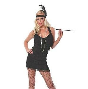 🎃 Women's Black Roaring 20's Flapper Costume S 🎃